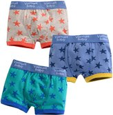 So Aromatherapy Kids and Boys Short pentagram Underwear Cotton Pantie Set 2T-7T