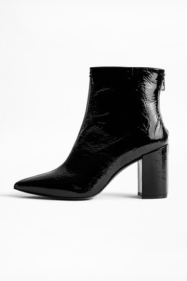 Zadig & Voltaire Glimmer Vernis Ankle Boots