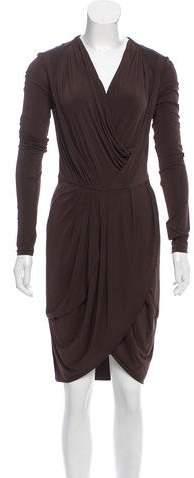 Givenchy Gathered Knee-Length Dress