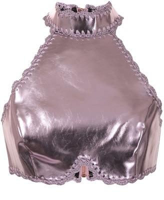 Alice McCall Cool Cat metallic top