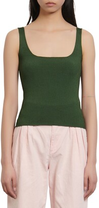 Sandro Alya Ribbed Sleeveless Sweater