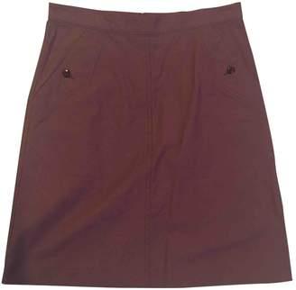 A.P.C. Burgundy Cotton Skirt for Women