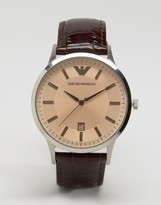 Emporio Armani Brown Leather Watch AR2427