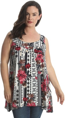 Nouvelle Collection Nouvelle New Womens Lace Feather Sequin Sleeveless Tunic Long Top Nouvelle Plus Sizes 14 to 26-28 (20