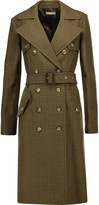 Michael Kors Houndstooth wool trench coat