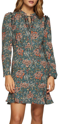 Oxford Mannon Chintz Print Dress Green