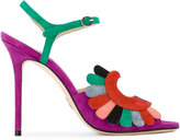 Paula Cademartori Blossom sandals - women - Leather/Calf Suede - 35.5
