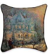 Thomas Laboratories Kinkade Holiday Gathering Pillow