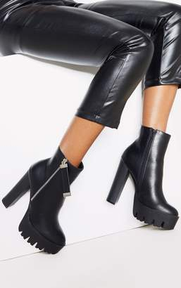 PrettyLittleThing Black Platform Ankle Boot