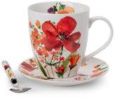 Pfaltzgraff 3-Piece Red Floral Coffee Set