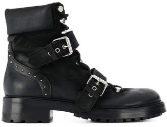 Strategia buckled chunky heel boots