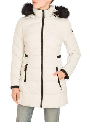 GUESS Faux Fur-Trim Polyfill Hooded Parka