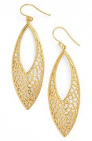 Argentovivo Women's Openwork Drop Earrings
