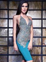 Baccio Couture - Dora Painted Jersey Short Dress