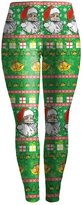 Wowforu Womens Printed Ankle Full Length Christmas Legging Tights
