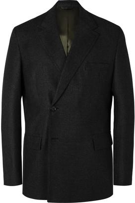 Acne Studios Double-Breasted Melange Wool Blazer