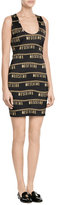 Moschino Logo Embellished Sheath Dress