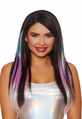 Dreamgirl Women's Long Straight Layered Ombre Three-Piece Hair Extensions