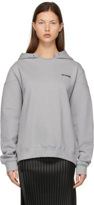 we11done Grey Oversized Hoodie