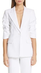 Michael Kors Ruched Sleeve Blazer