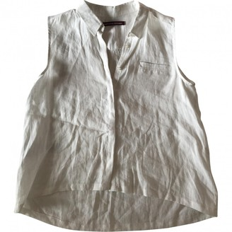 Comptoir des Cotonniers White Linen Top for Women