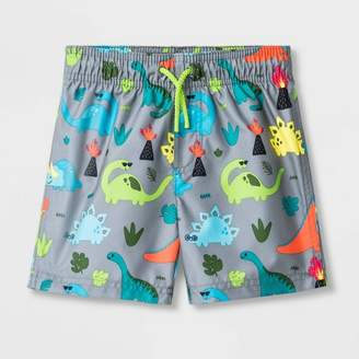 Cat & Jack Toddler Boys' Dino Swim Trunks Gray