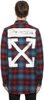 Off-White Brushed Arrows Plaid Flannel Shirt