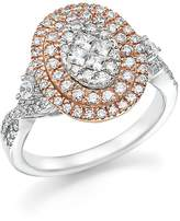 Bloomingdale's Diamond Cluster Statement Ring in 14K White and Rose Gold, 1.0 ct. t.w. - 100% Exclusive