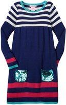 Design History Yarn Dyed Dress (Toddler/Kid) - Purple-4T
