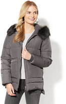 New York & Co. Faux-Fur Zip Puffer Jacket