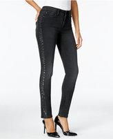 NYDJ Alina Glitter Bristol Wash Skinny Jeans