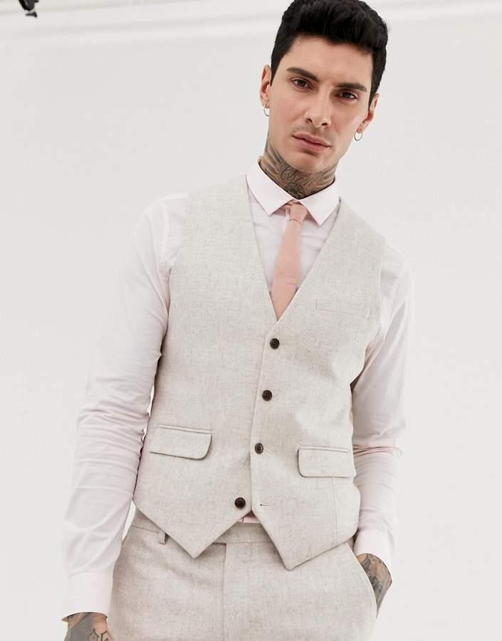 buy online hoard as a rare commodity details for Harry Brown wedding wool blend slim fit summer tweed suit vest