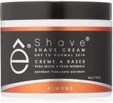 eShave Shave Cream, Almond, 4-Ounce
