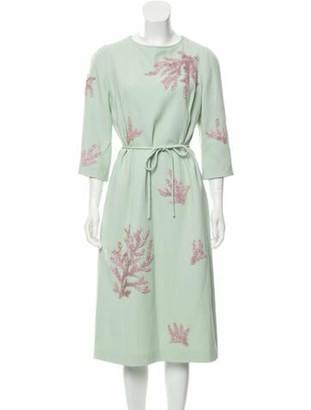 Andrew Gn 2018 Knee-Length Dress Mint