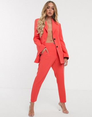 Asos Design DESIGN pop slim suit pants-Red
