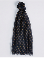 M&S Collection Tile Print Scarf