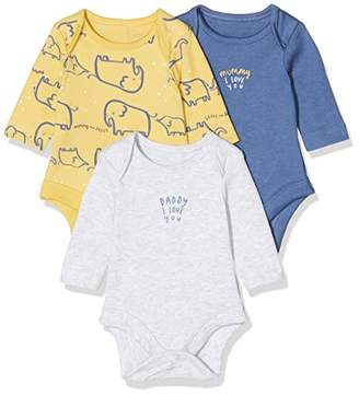 Mothercare Baby IO B M&D 3PK Bodysuits LS,(Size:98)