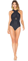 Lenny Niemeyer Deep V Wrap One Piece in Black. - size S (also in )