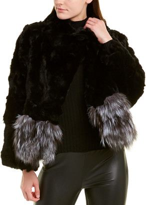 Adrienne Landau Fuzzy Coat