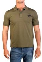 Prada Men's Pique Cotton Short Sleeve Polo Shirt Military Green.