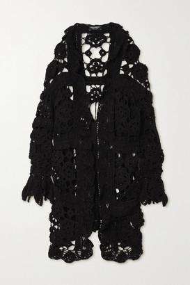 Dolce & Gabbana Crocheted Wool Cardigan - Black