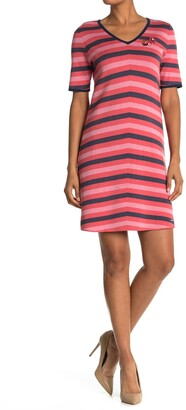 Ted Baker Stripe Contrast Trim Dress