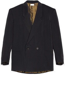 Fear of God Exclusively for Ermenegildo Zegna Double Breasted Jacket in Matte Black   FWRD