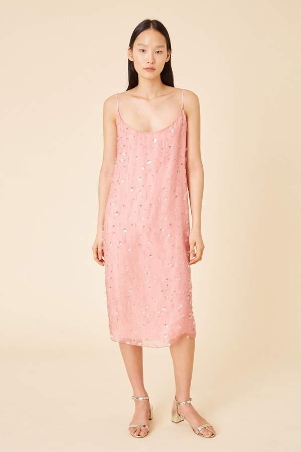 2a351459c03b Pink Silk Slip Dress - ShopStyle