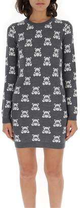 Moschino Teddy Jacquard Mini Dress