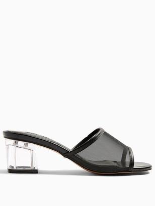 Topshop Dusty Perspex Mule Shoe - Black