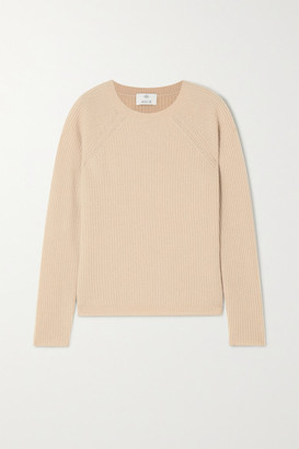 Allude Ribbed Cashmere Sweater - Camel