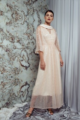 Anaya Daliah Sequin Draped Gown
