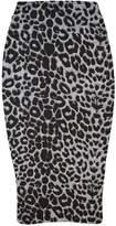 R Kon Women's Printed Stretchy Elastic Waist Office Bodycon Midi Pincil Tube Skirt Us