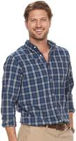 SONOMA Goods for Life Men's SONOMA Goods for LifeTM Modern-Fit Checked Stretch Poplin Button-Down Shirt